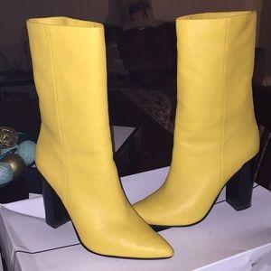 Yellow dolce vita boots